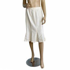 Talbots Wool Blend A-Line Godet Skirt 10 Petite